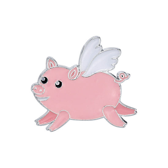 Sparkle Allure Flying Pig Pin