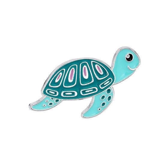 Sparkle Allure Sea Turtle Silver Over Brass Pin