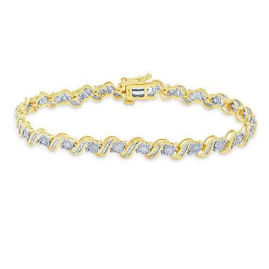 2 CT. T.W. Genuine Diamond 10K Gold 7.5 Inch Tennis Bracelet