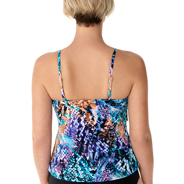 c913d1f3a6c Vanishing Act By Magic Brands Control Animal Tankini Swimsuit Top