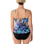 Vanishing Act By Magic Brands Control Animal Tankini Swimsuit Top
