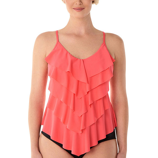 Vanishing Act By Magic Brands Control Tankini Swimsuit Top