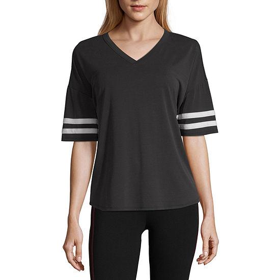 Flirtitude Short Sleeve V Neck T Shirt Womens Juniors