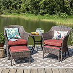 Outdoor Oasis Palm Island 5-pc. Chat Set with Ottoman