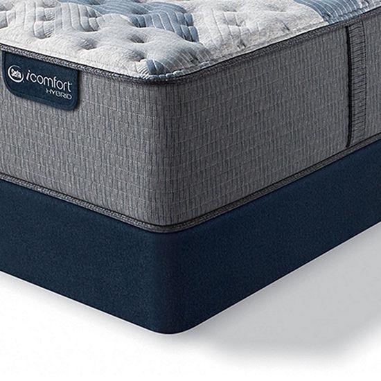 Serta Icomfort Blue Fusion 500 Extra Firm Tight-Top Hybrid Mattress + Box Spring