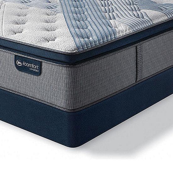 Serta Icomfort Blue Fusion 1000 Plush Pillow-Top Hybrid Mattress + Box Spring