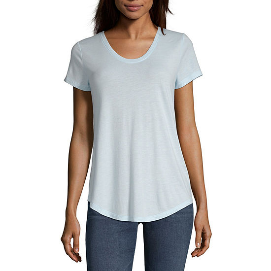 a.n.a-Womens Scoop Neck Short Sleeve T-Shirt