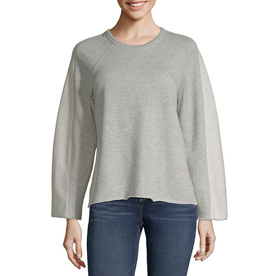 Ana Womens Round Neck Long Sleeve Pullover Sweater