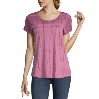 a.n.a-Womens Round Neck Short Sleeve T-Shirt