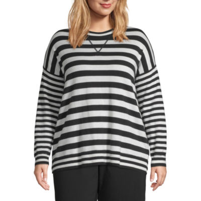 Liz Claiborne Weekend Striped Pullover Sweater - Plus