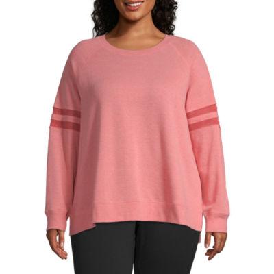 Xersion Mesh Inset Crew Sweatshirt – Plus