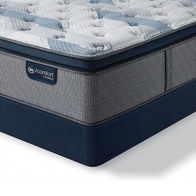 Serta Icomfort Blue Fusion 300 Plush Pillow-Top Mattress + Box Spring