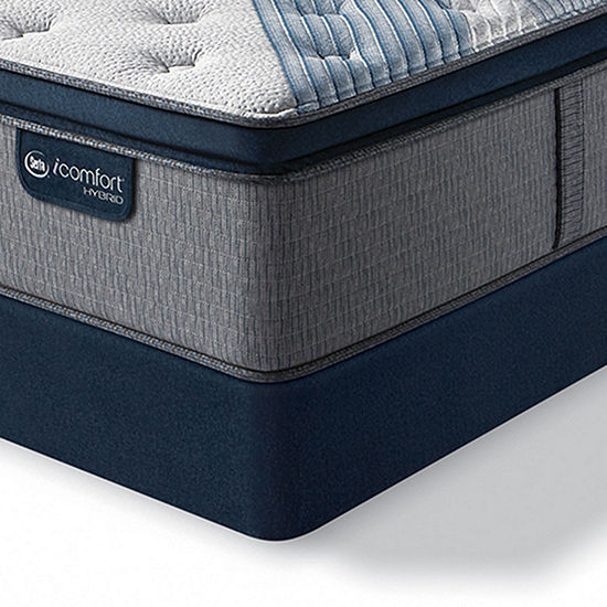 Serta Icomfort Blue Fusion 4000 Plush Pillow-Top Hybrid Mattress + Box Spring