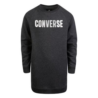 Converse Long Sleeve Logo T-Shirt Dresses Big Kid Girls
