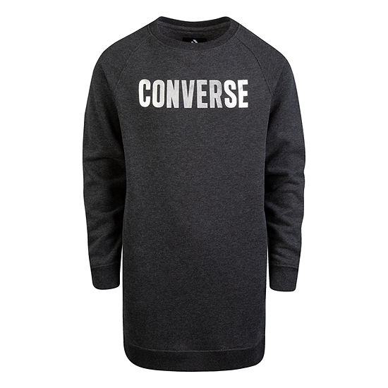 Converse Long Sleeve SweatShirt Dress Big Kid Girls