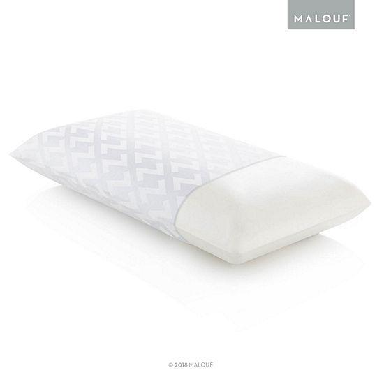 Malouf Z Memory Foam Pillow - Low Loft, Firm