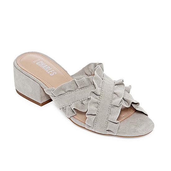 Style Charles Womens Vinny Slide Sandals