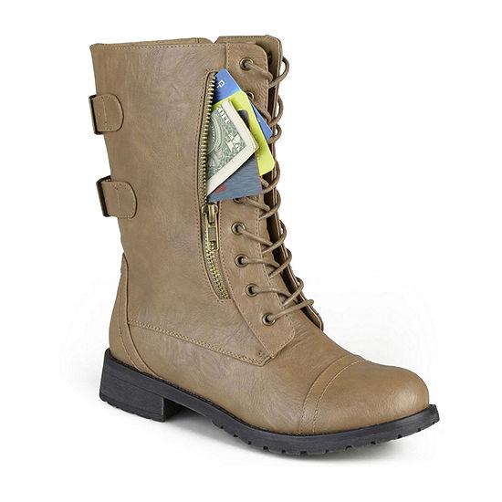 Journee Collection Womens Kendel Booties Flat Heel