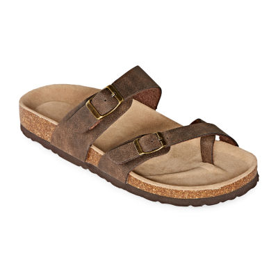 Arizona Fargo Womens Adjustable Strap Footbed Sandals
