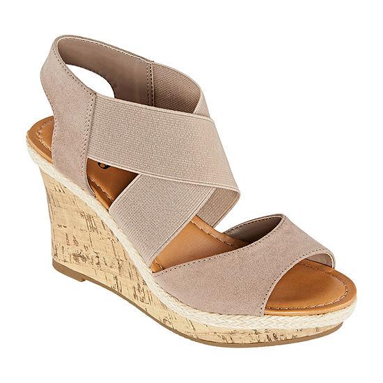 a.n.a Womens Nautical Wedge Sandals