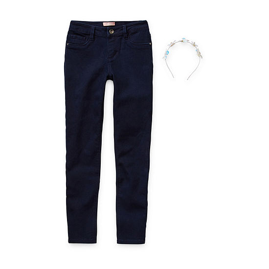 Squeeze Girls Mid Rise Skinny Fit Jean Big Kid