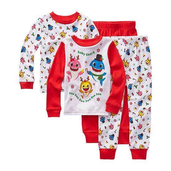 Pinkfong Boys 4-pc. Baby Shark Pajama Set Toddler