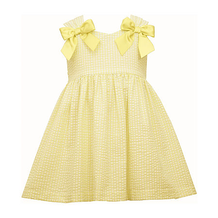 Kids 1950s Clothing & Costumes: Girls, Boys, Toddlers Bonnie Jean Toddler Girls Sleeveless Fit  Flare Dress 4t  Yellow $22.49 AT vintagedancer.com