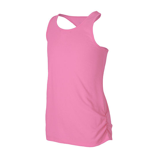 New Balance Little Girls Round Neck Moisture Wicking Tank Top