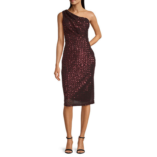 Premier Amour One Strap Glitter Sheath Dress