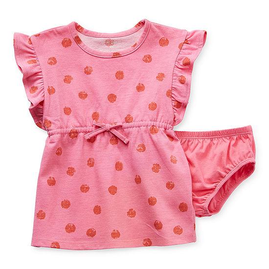 Okie Dokie Baby Girls Short Sleeve A-Line Dress