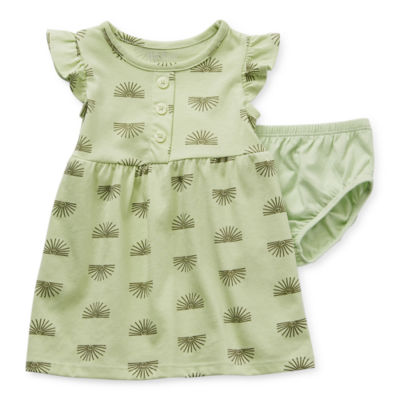 Okie Dokie Baby Girls Short Sleeve A-Line Dress