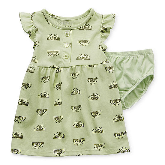 .99 Okie Dokie Baby Girls Short Sleeve A-Line Dress at JCPenny!