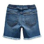 Okie Dokie Toddler Boys Adjustable Waist Denim Short