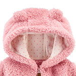 Carter's Baby Girls Sherpa Hooded Lightweight Jacket