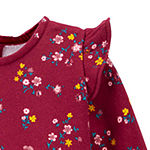 Carter's Baby Girls Long Sleeve Floral A-Line Dress