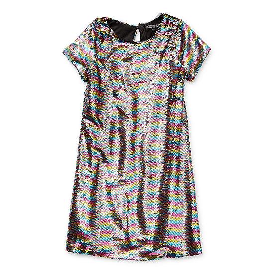 Trixxi Little & Big Girls Short Sleeve Cap Sleeve Shift Dress