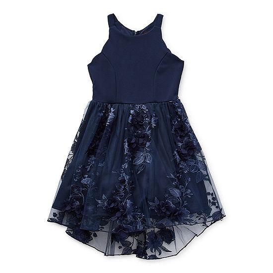 Trixxi Girl Little & Big Girls Sleeveless High-Low Party Dress