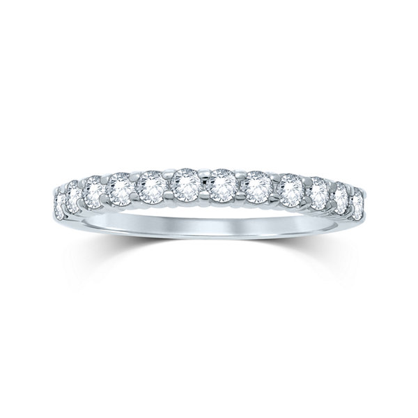 1/2 CT. T.W. Diamond 14K White Gold Band