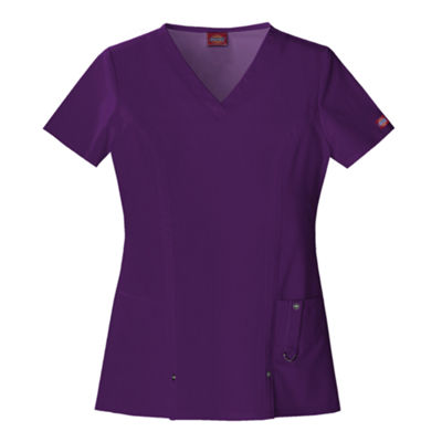 Dickies® Womens V-Neck Scrub Top–Plus