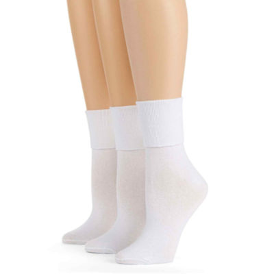 Mixit™ 3-pk. Mary Jane Turn-Cuff Socks