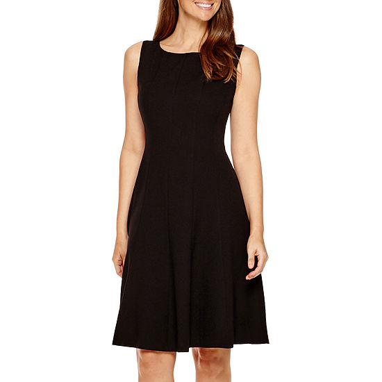 3dece0adc10 Black Label by Evan Picone Sleeveless Fit   Flare Dress JCPenney