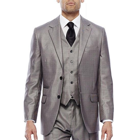 f340356ca8 Steve Harvey® Black   White Plaid Suit Jacket - Classic - JCPenney