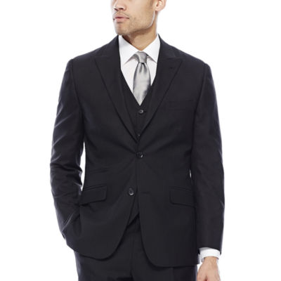 Steve Harvey® Black Herringbone Suit Jacket