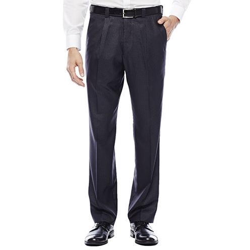 Steve Harvey® Charcoal Check Pleated Suit Pants