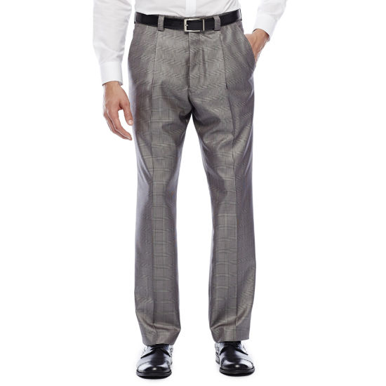Steve Harvey® Black & White Plaid Pleated Pants - Classic