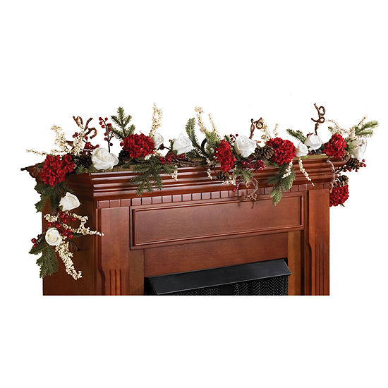 Nearly Natural 28in Pine Cone Swag Indoor Christmas Wreath