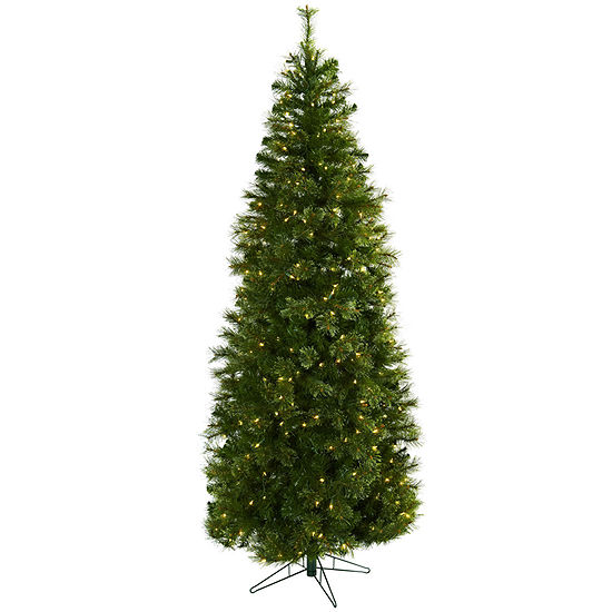 Nearly Natural 7 1/2 Foot 7.5ft Cashmere Pre-Lit Christmas Tree