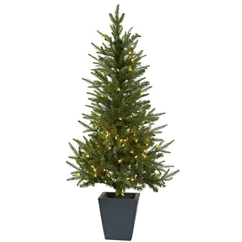 Nearly Natural 4 1/2 Foot 4.5ft Planter Christmas Tree