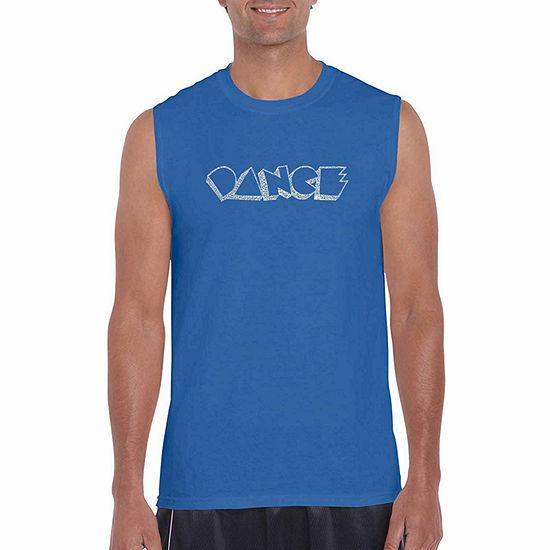 Los Angeles Pop Art-Big and Tall Mens Crew Neck Short Sleeve T-Shirt