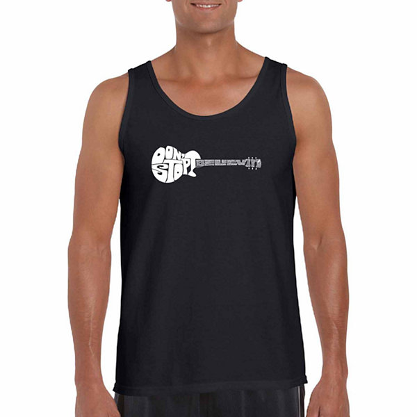 Los Angeles Pop Art Dont Stop Believing Word Art Tank Top- Men's Big and Tall